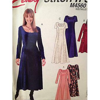 McCalls Schnittmuster 4560 Damen / Misses Kleid Größe 8-14 ungeschnitten