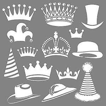 Decoart Blandade Media Stencil - Brim och Crown