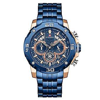 Brand Luxury Luminous Quartz Men's Watch(Blue)