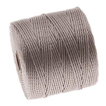 Super-Lon (S-Lon) Cord - Size 18 Twisted Nylon - Silver / 77 Yard Spool