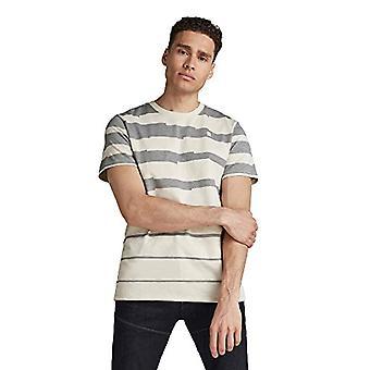 G-STAR RAW Pixalated Stripe T-Shirt, Whitebait B248-1603, M Men's