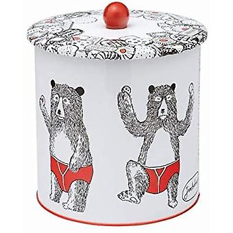 Jimbobart Bear Biscuit Barrel Tin