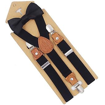 Braces Baby Suspenders With Bow Tie, 3 Clips Fashion Trousers Strap