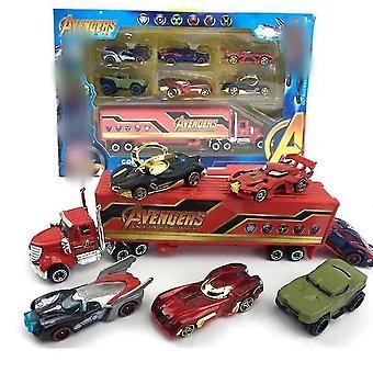 New 6pcs/lot Batmen Ironman Hulk Mini Car Toy Children's Gift Set ES12840