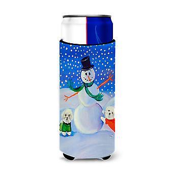 Isolanti Snowman Bichon Frise Ultra Beverage per lattine sottili 7145Muk