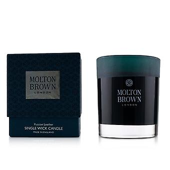 Molton Brown Single Wick Candle - Russian Leather 180g/6.3oz