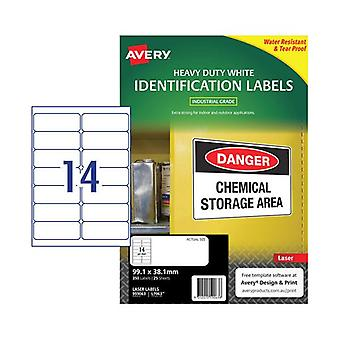 Avery Laser Label L7063 14Up Pack Of 25