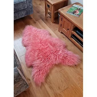 Long Wool Coral Pink Icelandic Sheepskin