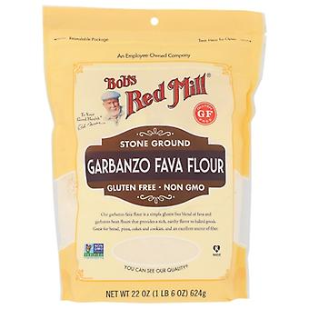 Bobs Red Mill Flour Bean Grbnzo Fava, Fall av 4 X 22 Oz