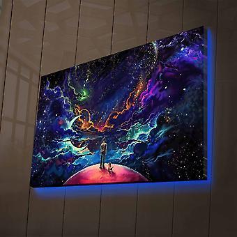 NASA-011 Flerfärgad dekorativ led-målning av lampa
