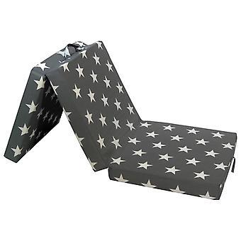 vidaXL 3-piece folding mattress 190×70×9 cm Grey