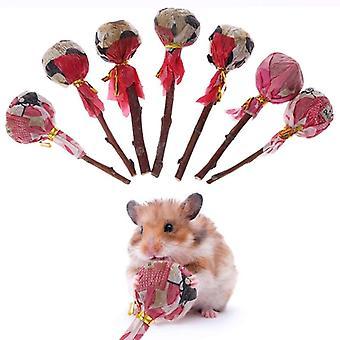 Natuurlijke gras huisdier hamster slijpen tanden stok