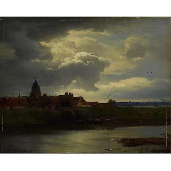 Landschaft mit Fluss,Andreas Achenbach