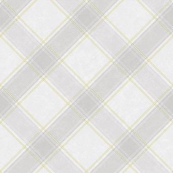 Holden Decor Whitcliffe Aiden Comprobar Amarillo Gris Wallpaper 90741