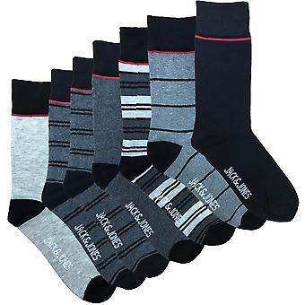 Jack & Jones Mens Jacloui 7 Pack Casual Socks