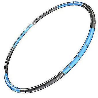 Copoz 8 knots kokoontaitettava Hula Vanne 70cm Fitness Liikunta Kuntosali Workout Hoola lapsille (Sininen Musta)