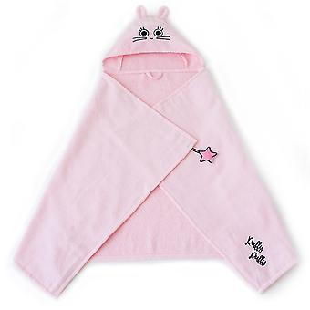 Milk&Moo Chancin Vauvan kylpypyyhe, 100% puuvillainen vauvan hupullinen pyyhe, erittäin pehmeä ja imukykyinen vauvan pyyhe vastasyntyneille, pikkulapsille ja pikkulapsille, yksi koko, vaaleanpunainen väri