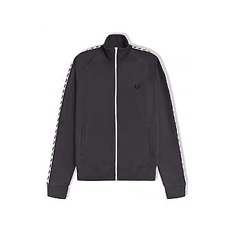 Fred Perry Taped Track Jacket (Gunmetal)