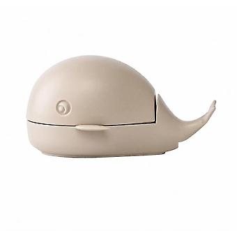 Little Whale Laundry Brush Cute Household Cleaning Shoe Brush(Beige)