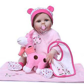 Wiedergeburt Puppe Ganzkörper Silikon wiedergeborene Baby Puppe Kinder Spielkamerad für Mädchen Baby Mädchen lebendig Plüschtiere für Blumensträuße Puppe bebes wiedergeborene süßes Geschenk