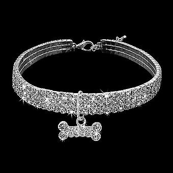 2 PCS Bling Rhinestone Dog Collar Crystal Puppy Chihuahua Pet Dog Collars Leash For Small Dogs