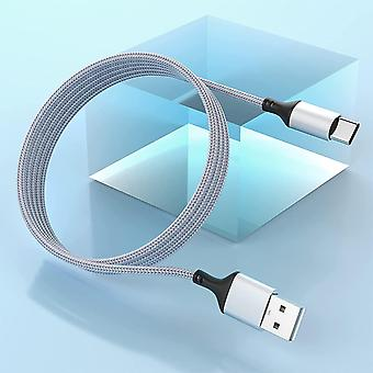 Extra Long USB Type C Cable 5M/16FT,Nylon Braided Fast Charging USB A to USB C Charger Cord,