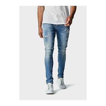 883 Politie Skinny Light Wash Blue Jeans