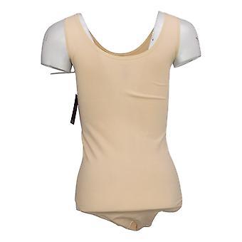 yummie Shaper L/XL Bodysuit sem mangas w/snaps Bege 607672