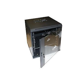 خزانة حامل مثبتة على الحائط أحادية 12U SH6412 19 بوصة (60 × 45 سم)