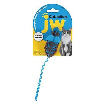 JW Pet Cataction Catnip Mouse Cat Toy With Rope Tail  - 1 count