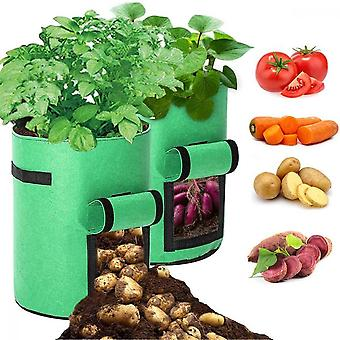 2pcs 10 Gallons Breathable Vegetable Planting Bags
