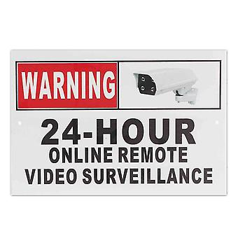 24 Hour Online Remote Video Surveillance Security Cctv Camera Metal Sign Decal