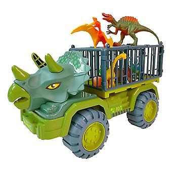 39cm Dinosaurier Spielzeugauto Ein Transport Spielzeugauto mit 3 kleinen Dinosauriern