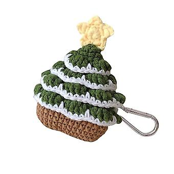 Silktaa Christmas Tree Wool Knitted Airpods Earphone Protective Case