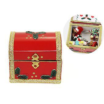 1:12 Miniature Christmas Box Gift Dollhouse Diy Doll House Decor Accessories