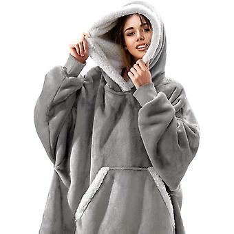 Gemdeck Pătură tricou, supradimensionate Fleecehug Hoodie wearable Pătură