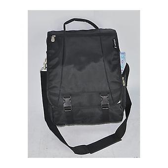 "17"" Aerolite Laptop Man Bag Flight Cabin Friendly Case Holder Black"