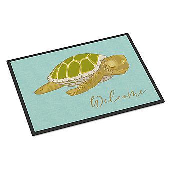 Carolines skarby BB8562MAT Sea Turtle Witaj wewnątrz lub na zewnątrz Mat 18 x 27 cm