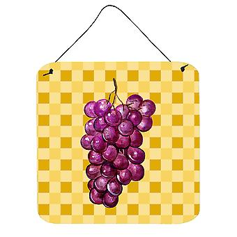 Grapes on Basketweave Wall or Door Hanging Prints