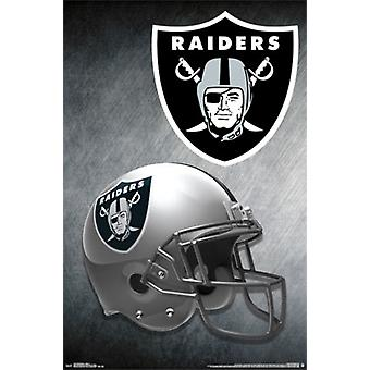 Oakland Raiders - casque 15 affiche Poster Print