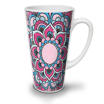 Hindu Lotus NEW White Tea Coffee Ceramic Latte Mug 12 oz | Wellcoda