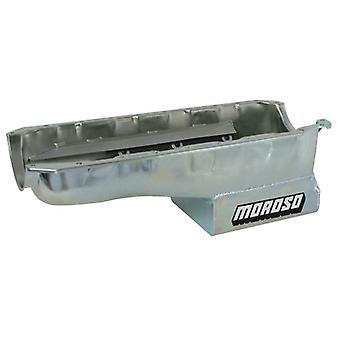 Moroso 20408 Oil Pan with Flat Sides and Windage Tray for Chevy Big-Block Engines