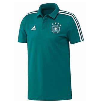 2018-2019 Almanya Adidas Pamuk Polo Gömlek (Yeşil)