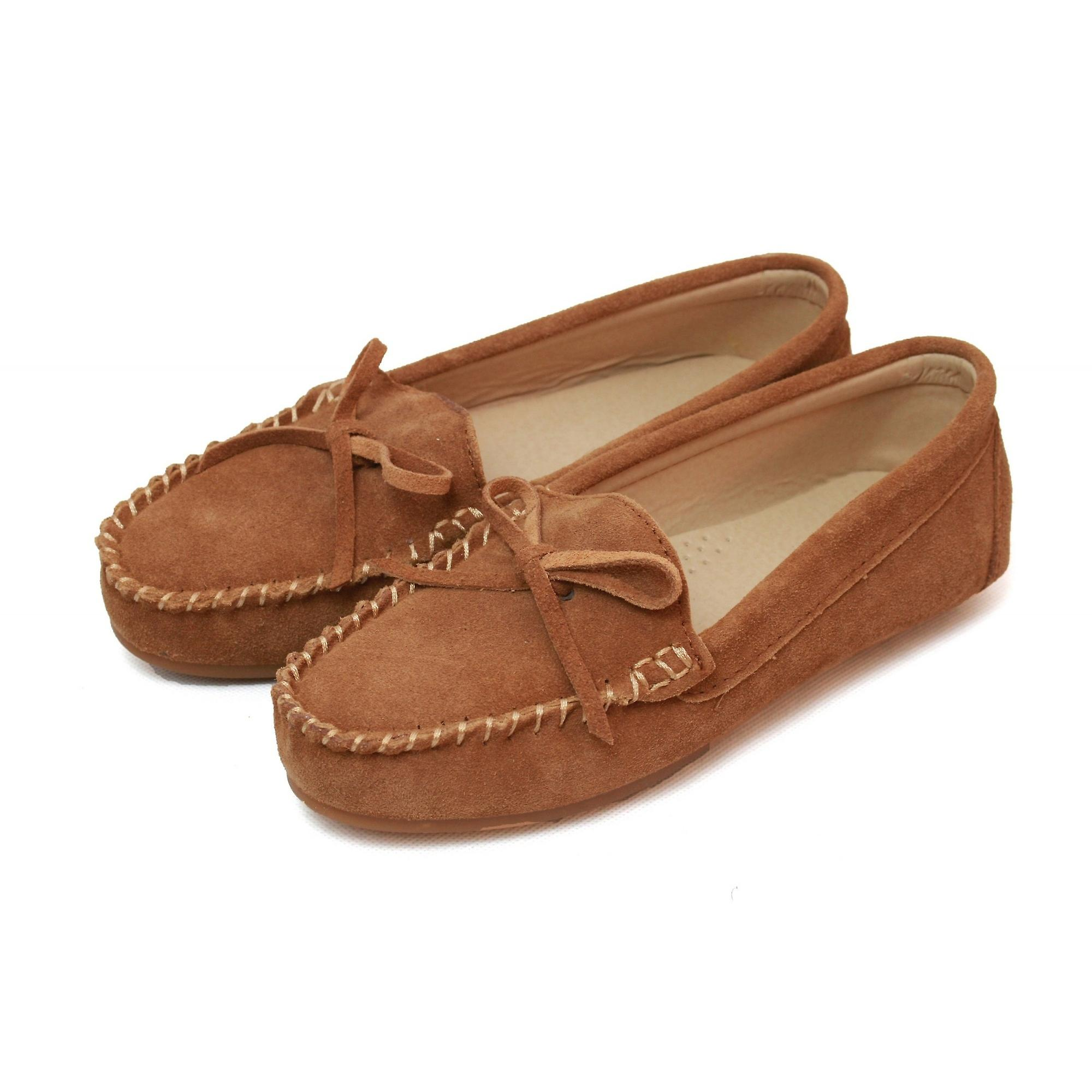 Eastern Counties Leather Womens Ladies Suede Moccasins