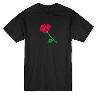 Red Rose Design Graphic Men''s T-shirt