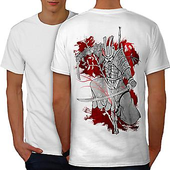 Katana Mystic Men WhiteT-shirt Back | Wellcoda