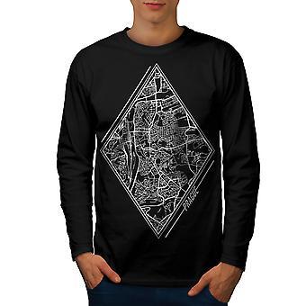 Czech Republic City Men BlackLong Sleeve T-shirt | Wellcoda