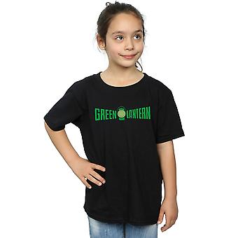DC Comics ragazze verde lanterna testo Logo t-shirt