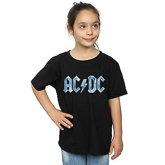AC/DC Girls Blue Ice logo T-paita