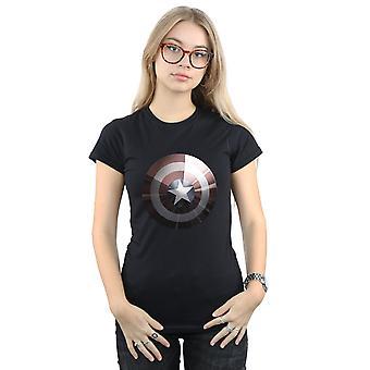 Bewundern Sie die Captain America Schild glänzend Frauenunterhemde